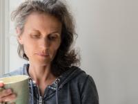 sad middle aged woman